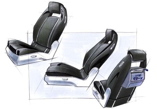 2002 Saab 9-3X Concept Car Interior