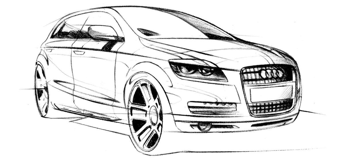 эскизы автомобилей: