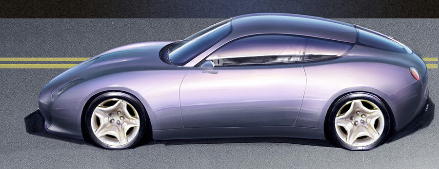 2007 Maserati Gs Zagato Sketch Design