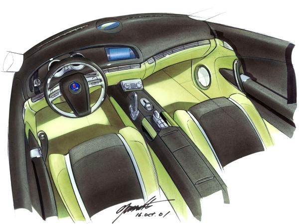 2002 Saab 9-3X Concept Car Interior