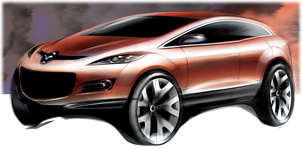 2004 Mazda Mx Crossport Concept Sketch Design