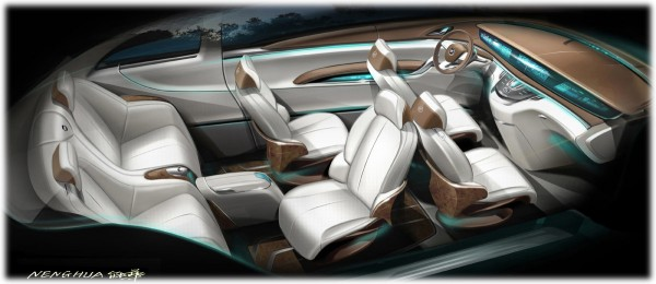 2009 Buick Business Concept Sketch Interior