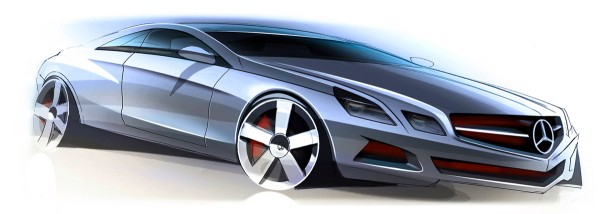 2010 Mercedes-Benz E-class Coupe Sketch