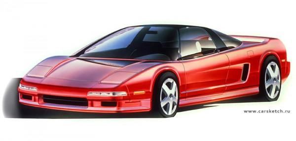 1989 Acura NSX Sketch