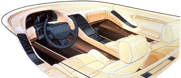 1989 Acura NSX Sketch Interior