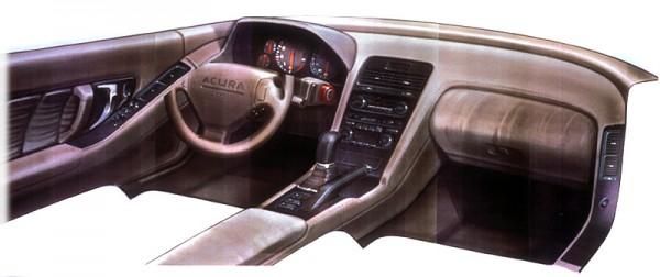 Acura1989 Acura NSX Sketch Interior