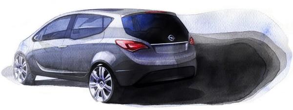 2008 Opel Meriva Concept Sketch
