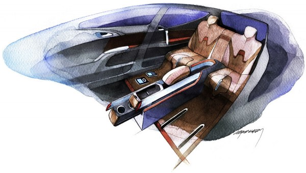 2008 Opel Meriva Concept Interior Sketch