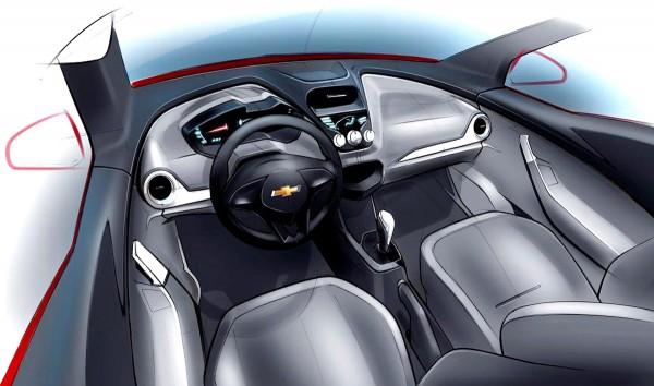 2010 Chevrolet Agile Interior Sketch