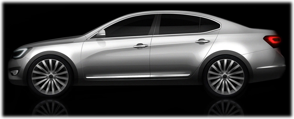 2009 Kia Vg Sedan Concept Sketch Design