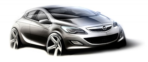 2010 Opel Astra Sketch