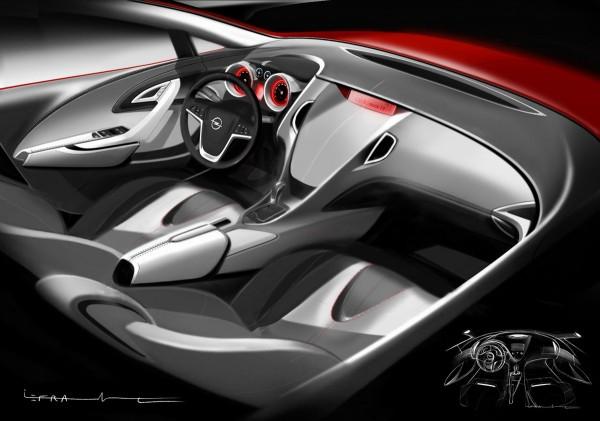 2010 Opel Astra Interior Sketch