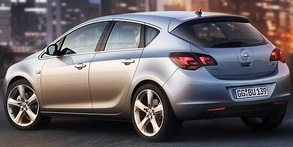 2010 Opel Astra Sketch