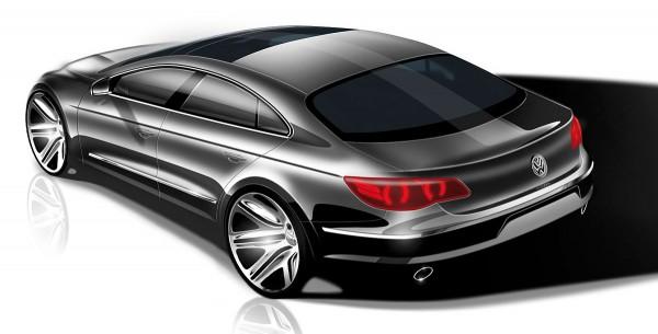 2009 Volkswagen Passat CC Sketch