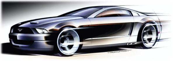 2003 Ford Mustang GT Coupe Concept Sketch