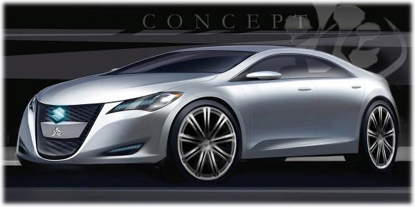 2008 Suzuki Kizashi 3 Concept Sketch