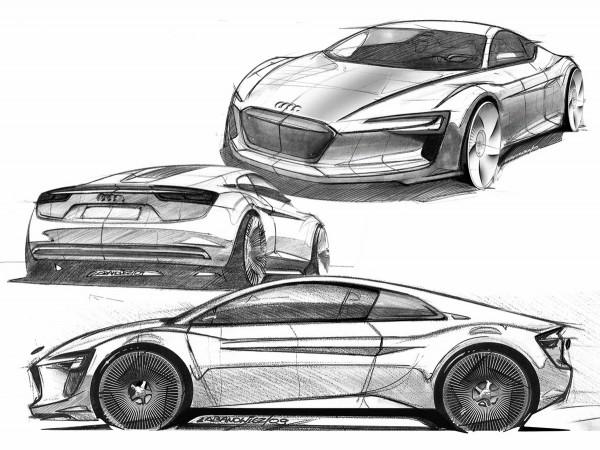 2009 Audi e-tron Concept Design Sketch