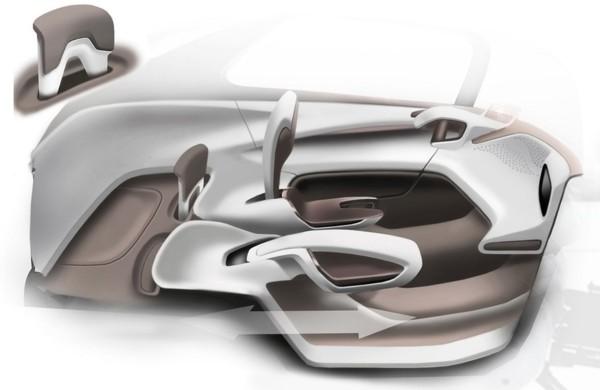 2009 Peugeot BB1 Concept  Interior Sketch