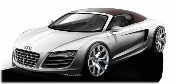 2010 Audi R8 Spyder Sketch