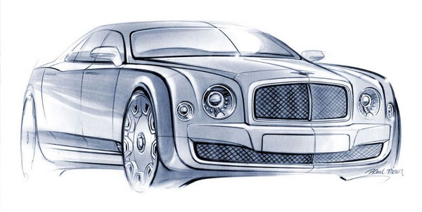 2010 Bentley Mulsanne Sketch