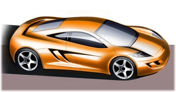 2010 McLaren MP4-12C Sketch
