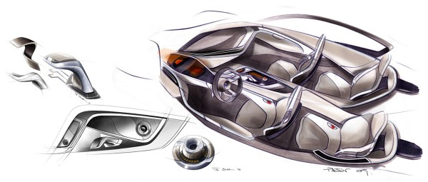 2009 BMW Vision EfficientDynamics Sketch Interior