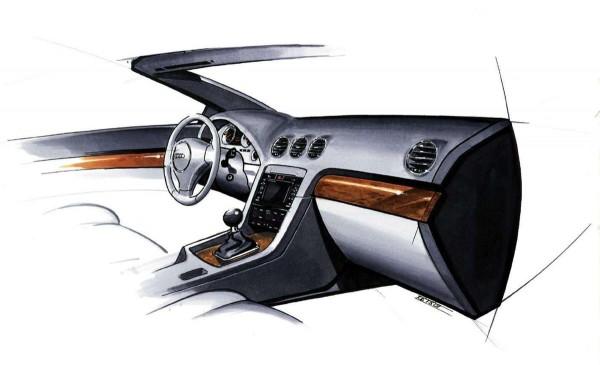 2002 Audi A4 Cabriolet - Interior Design Sketch