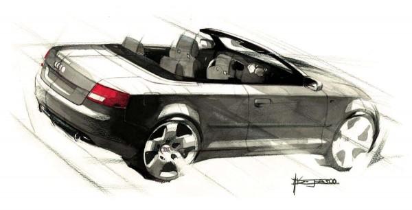 2002 Audi A4 Cabriolet - Design Sketch