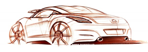 2011 Peugeot RCZ - Design Sketch