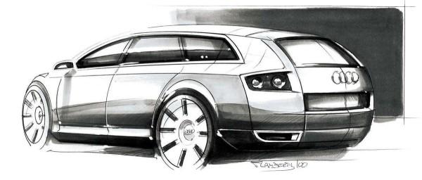 2001 Audi Avantissimo Concept Sketch