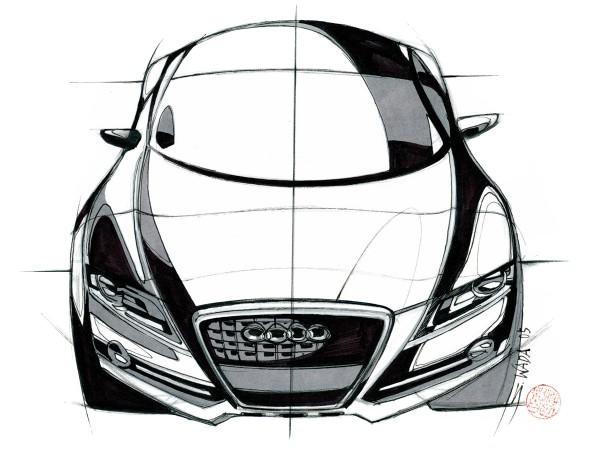 2008 Audi S5 Sketch
