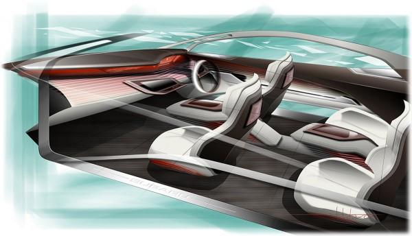 2009 Subaru Hybrid Tourer Concept Interior Sketch