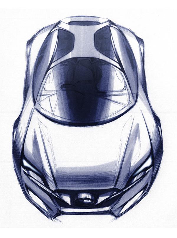 2009 Subaru Hybrid Tourer Concept Sketch