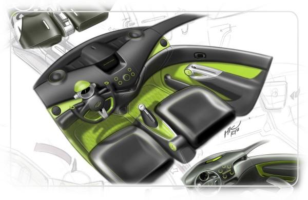2010 Daewoo Matiz Creative Interior Sketch