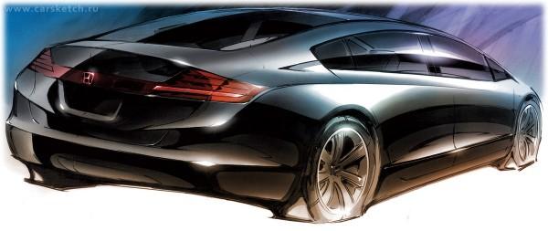 2010 Honda FCX Clarity Sketch