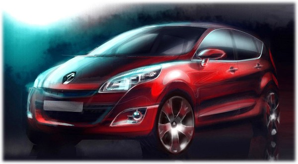 2010 Renault Scenic Sketch