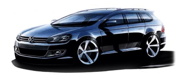 2010 Volkswagen Golf Variant Sketch