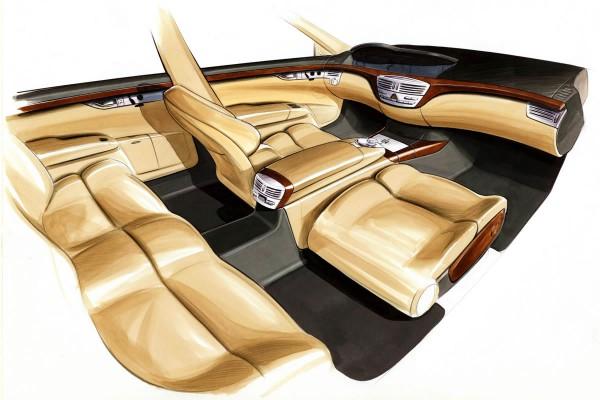 2006 Mercedes-Benz S-Class Interior Sketch