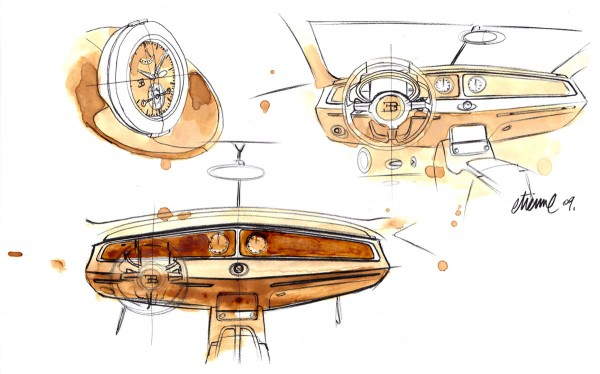 2009 Bugatti 16C Galibier Concept Interior Sketch