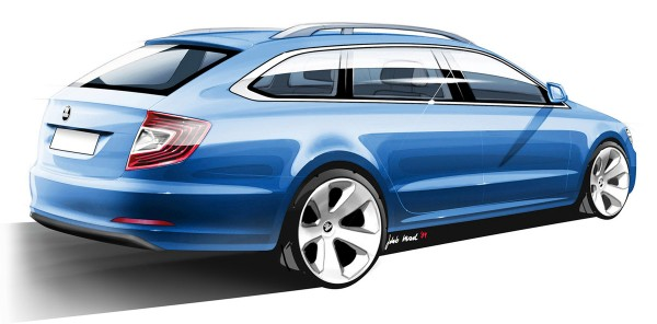 2010 Skoda Superb Combi Sketch