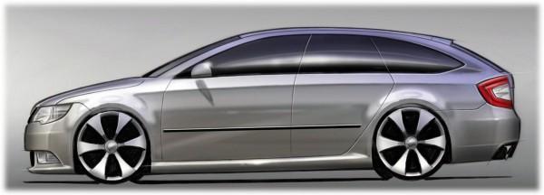 2010 Skoda Superb Combi Sketch