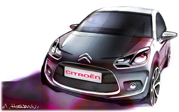 2010 Citroen C3 - рисунок дизайна