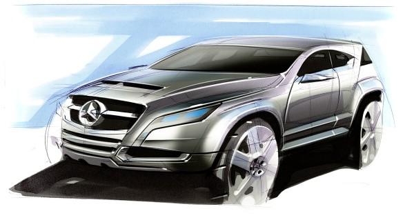 2010 Mercedes-Benz GLK-Class дизайн рисунки