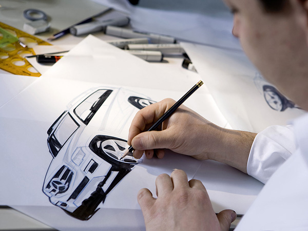 2010 Mercedes-Benz GLK-Class дизайн рисунки от руки, процесс