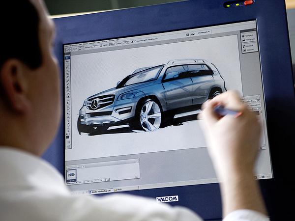 2010 Mercedes-Benz GLK-Class дизайн рисунки на планшете