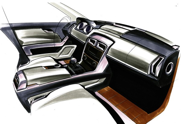 2010 Mercedes-Benz GLK-Class дизайн рисунки салона