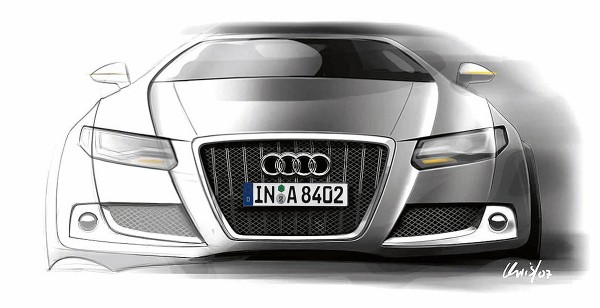 2011 Audi A8 - дизайн рисунок