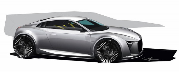 2010 Audi e-tron Detroit Showcar дизайн рисунок