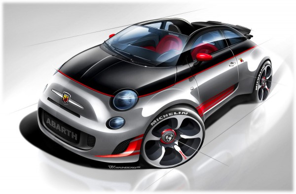 2010 Abarth 500C Sketch