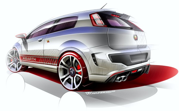 2010 Abarth Punto Evo Sketch